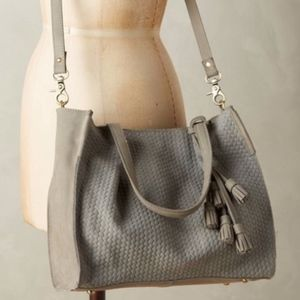 Grey Anthropologie Miss Albright Purse